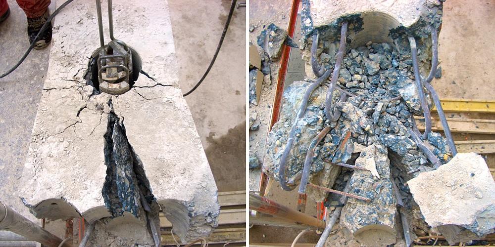 Beton pressen, Betonbohren, Beton bohren. Moderne Betonbearbeitung by BOWO. Köln Bonn