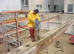 Betonbohren, Beton bohren. WDR. Betonbohrer. Moderne Betonbearbeitung by BOWO . WDR Köln.